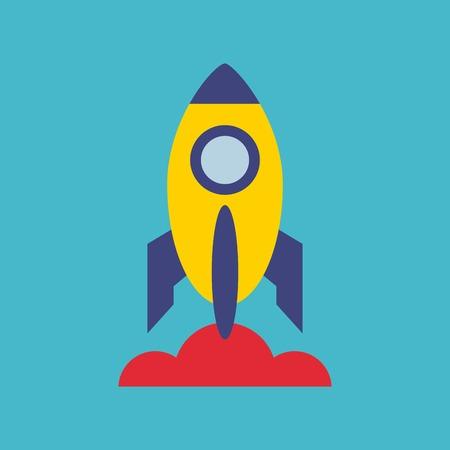 launcher: rocket launcher startup icon vector illustration design Illustration