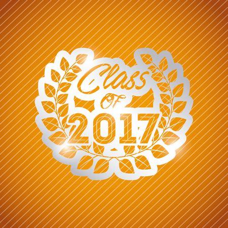 congratulazioni classof 2017 illustrazione vettoriale carta di progettazione
