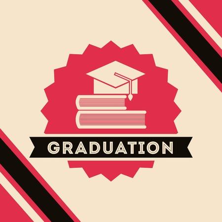 grad: congratulations grad celebration card vector illustration design