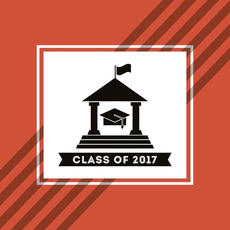 school years: congratulations class of 2017 card vector illustration design Illustration
