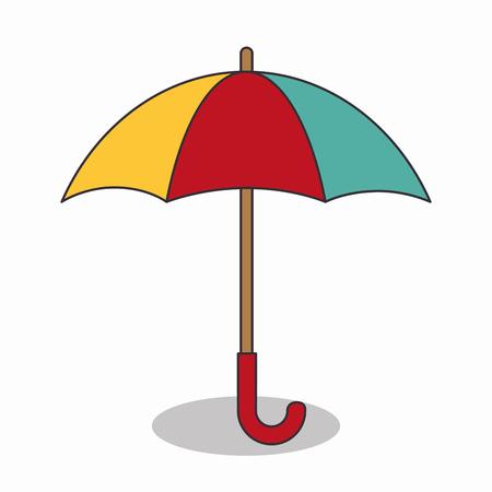 umbrella travel isolated icon vector illustration design Illustration