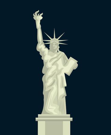 liberty statue: liberty statue american emblem vector illustration design