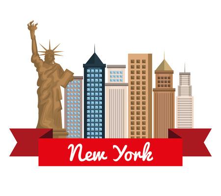 ニューヨーク市都市景観ベクトル イラスト デザイン