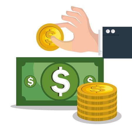crowd funding concept icons vector illustration design Illustration