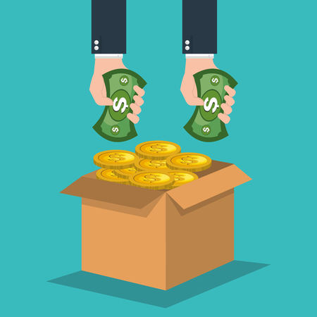 funding: crowd funding concept icons vector illustration design Illustration