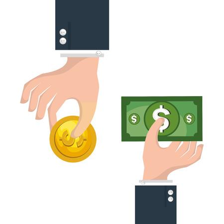 crowd funding begrip iconen vectorillustratieontwerp Stock Illustratie