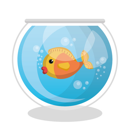 swiming: cute fish colors isolated icon vector illustration design