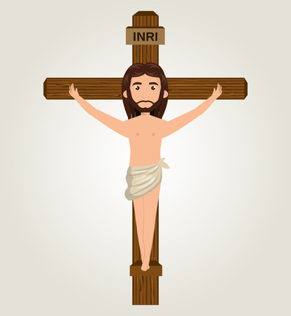 crucify: Jesus christ crucified design isolated vector illustration eps 10 Illustration
