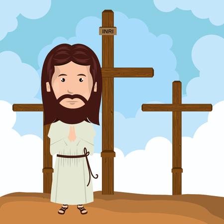 calvary: Jesus christ mount calvary design vector illustration eps10 Illustration