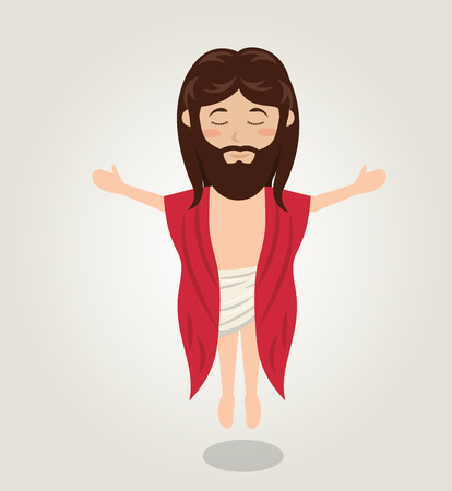 redemption: Jesus christ ascension design isolated vector illustration eps 10