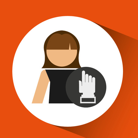 hand pointing: woman hand pointing up icon design vector illustration