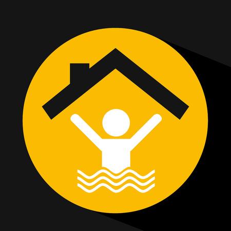 hand holding swimmer design, vector illustration eps 10