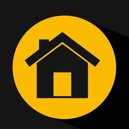 hand holding house home design vector illustration