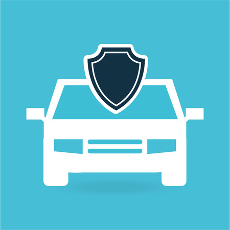insurance protection car money safety design vector illustration
