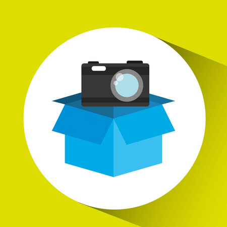 protection camera photografy archive design vector illustration Illustration