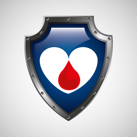 sign donation blood heart donor icon vector illustration eps 10