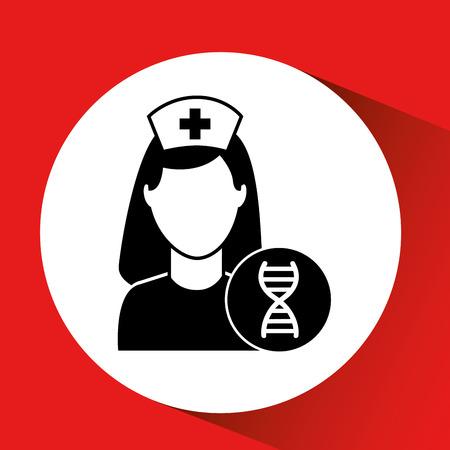 DNA science hospital building icon medicine vector illustration Illustration