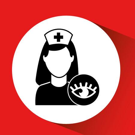 eye healthy care hospital building icon vector illustration Illustration