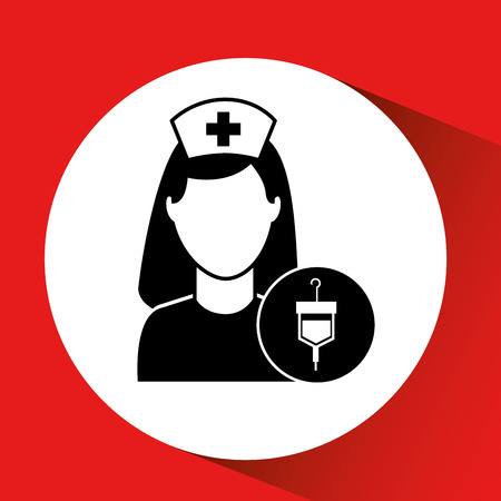 rh: blood bag donation hospital medicine icon vector illustration