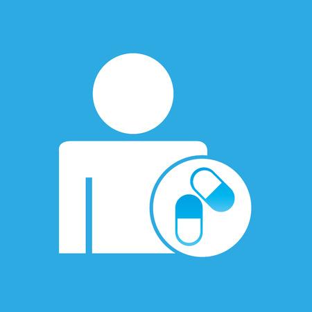 silhouette man capsule medication