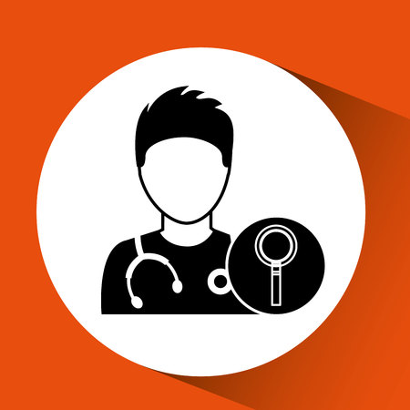 nurse cartoon search design vector