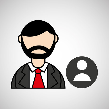 man bearded and character male icon vector illustration Illustration