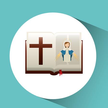 virgin mary  conception bible icon vector illustration