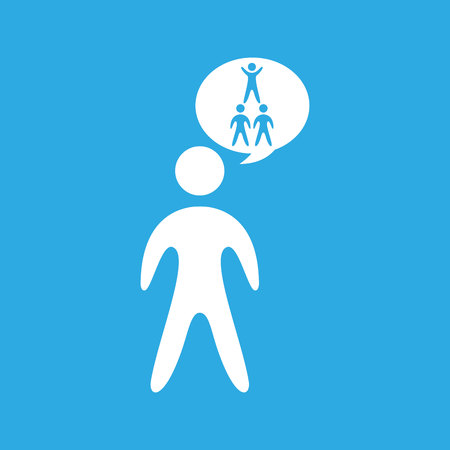 silhouete men pyramid persons design vector illustration eps 10