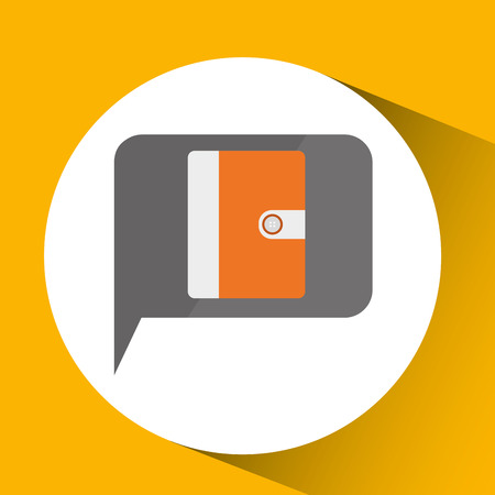 technology monitor library book icon isolated vector illustration