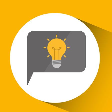smartphone digital with idea bulb design isolated vector illustration eps 10