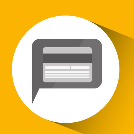 technology monitor icon credit card isolated vector illustration eps 10