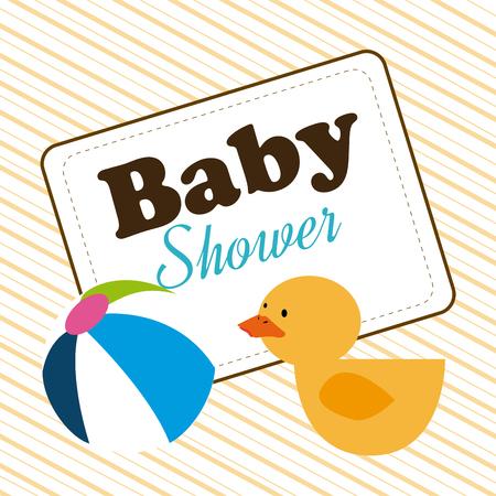 invite congratulate: Baby shower design over beige background,vector illustration Illustration