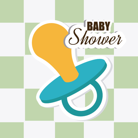 sucking: Baby shower design over white background,vector illustration
