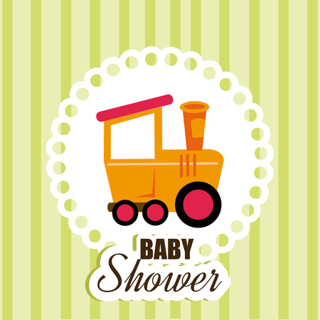 Baby shower design over green background,vector illustration