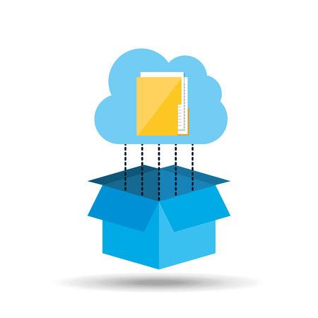 syncing: cloud technology folder file connection design vector illustration Illustration