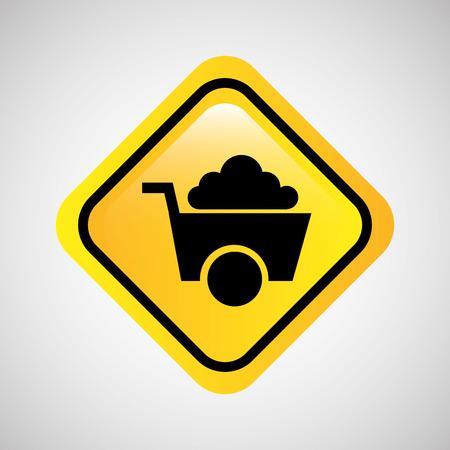 sign mining icon tool design vector illustration