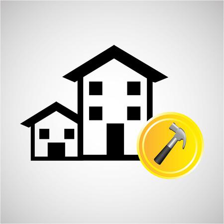 remodel: construction remodel screw icon graphic vector illustration