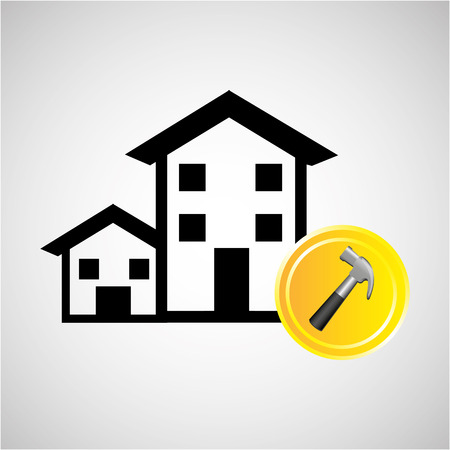 construction remodel screw icon graphic vector illustration