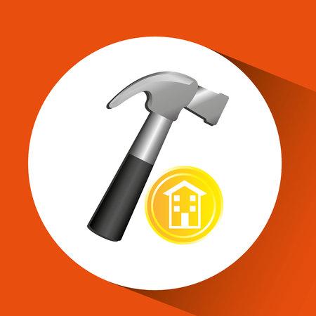 construction remodel screw icon graphic vector illustration