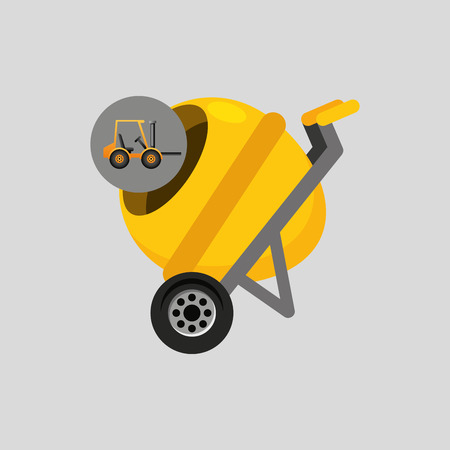 haul: truck mixer concrete icon graphic vector illustration