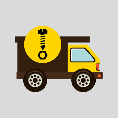 clincher: construction gear icon screw nut vector illustration