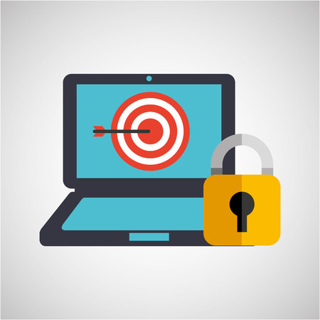 password: business strategy technology password protection vector illustration