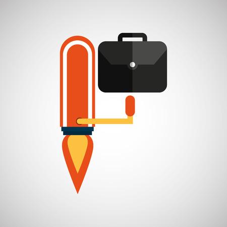 business growth portfolio icon design vector illustration Illustration