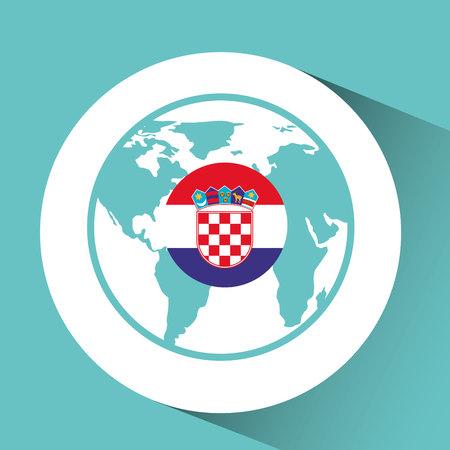 Croatia flag pin world map icon design vector illustration royalty croatia flag pin world map icon design vector illustration stock vector 64869114 gumiabroncs Gallery