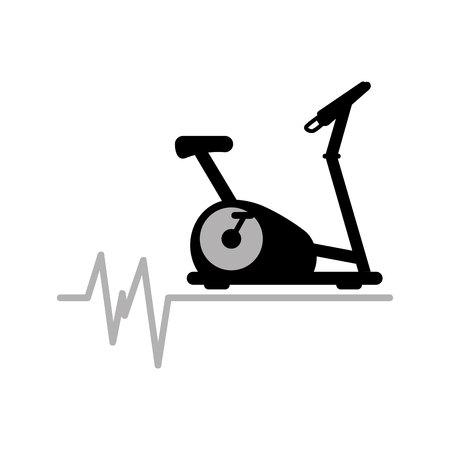 static bike: static bike machine gym. rate background icon design vector illustration