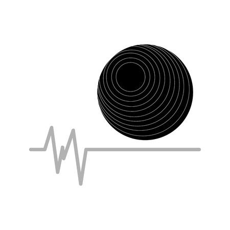 fitness ball: fitness ball fitness gym icon vector illustration