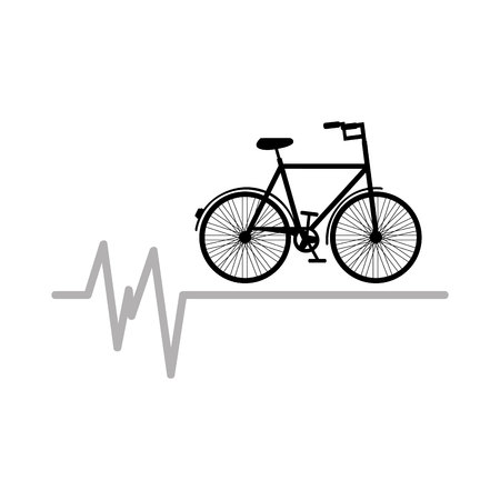 bycicle icon sport design graphic vector illustration Illustration