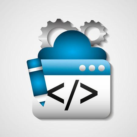 computing machine: search engine optimization flat icons vector illustration design