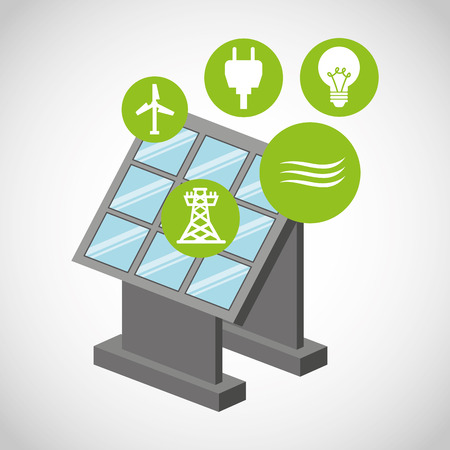 alternative: ecological alternative energy green vector illustration design Stock Photo