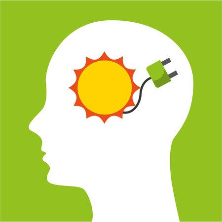 think green ecology icons vector illustration design Illustration